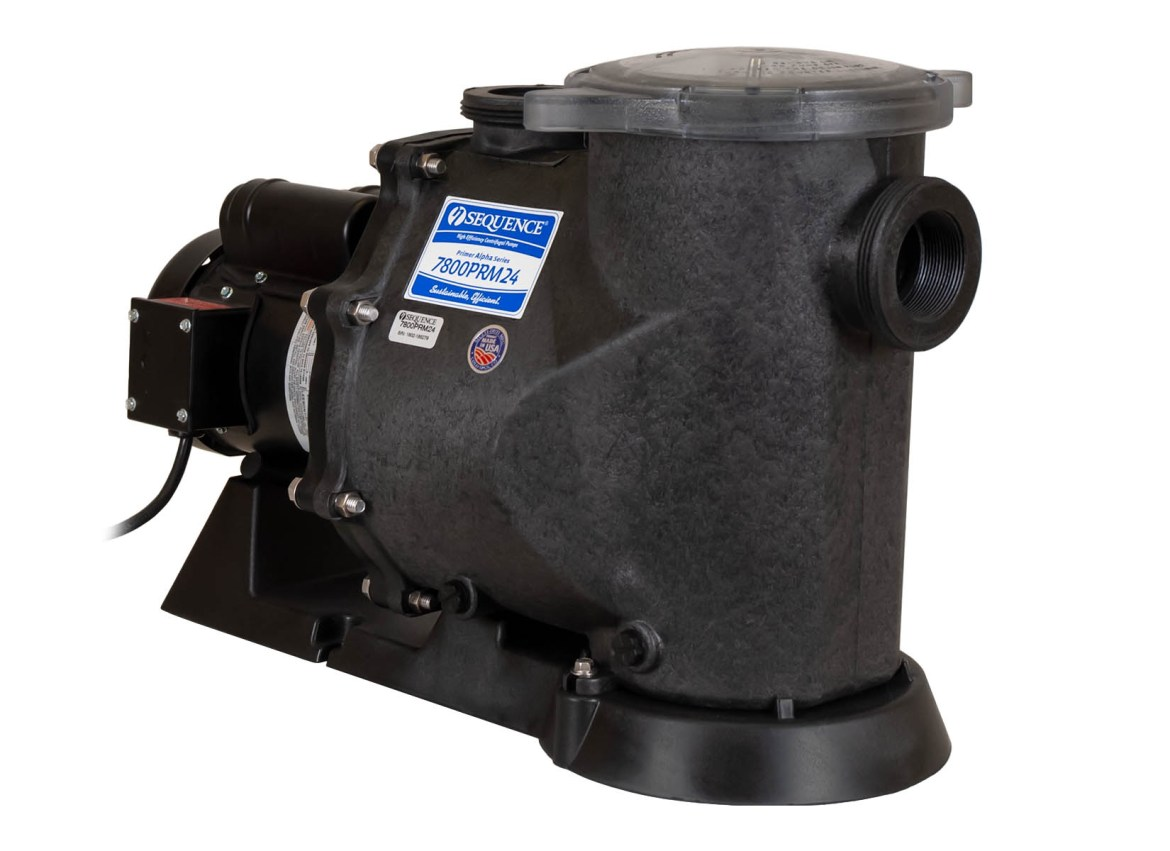 Sequence Primer Alpha Pump with black Leeson Motor left angle view