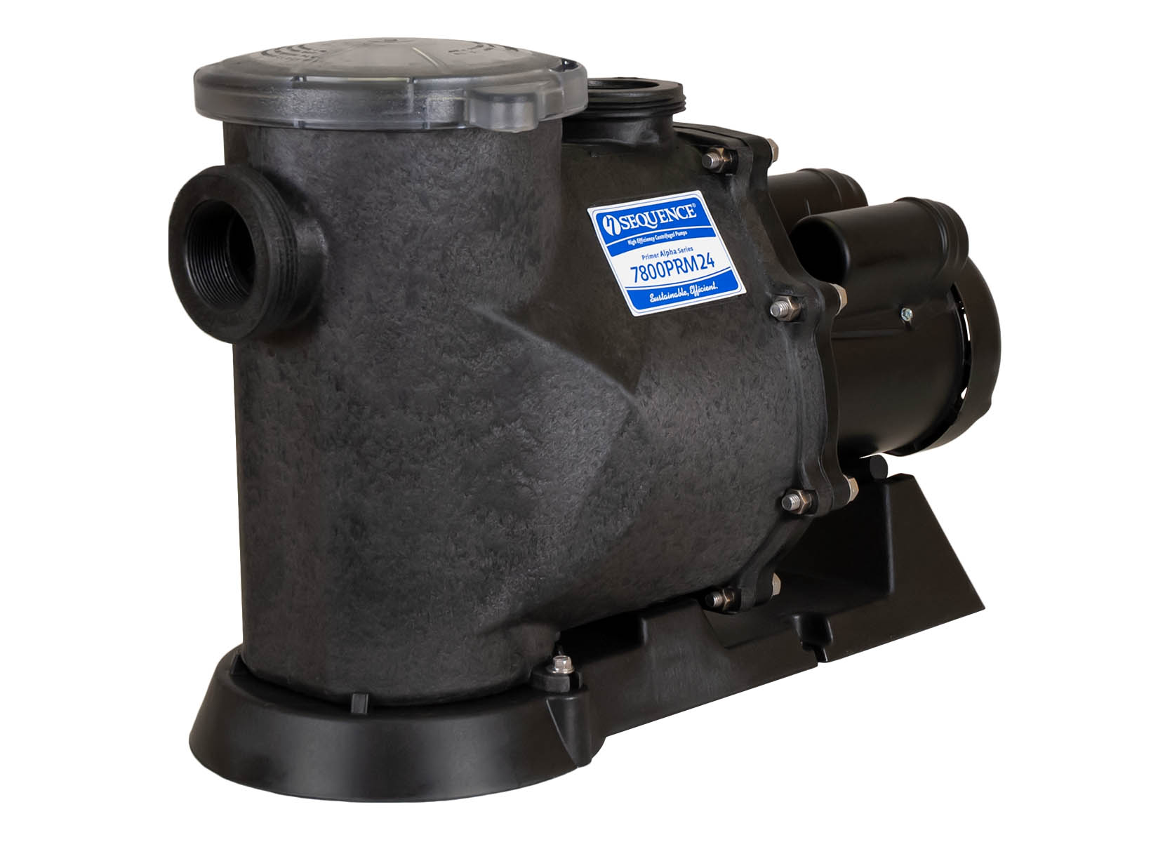 Sequence Primer Alpha Pump with black Leeson Motor right angle view