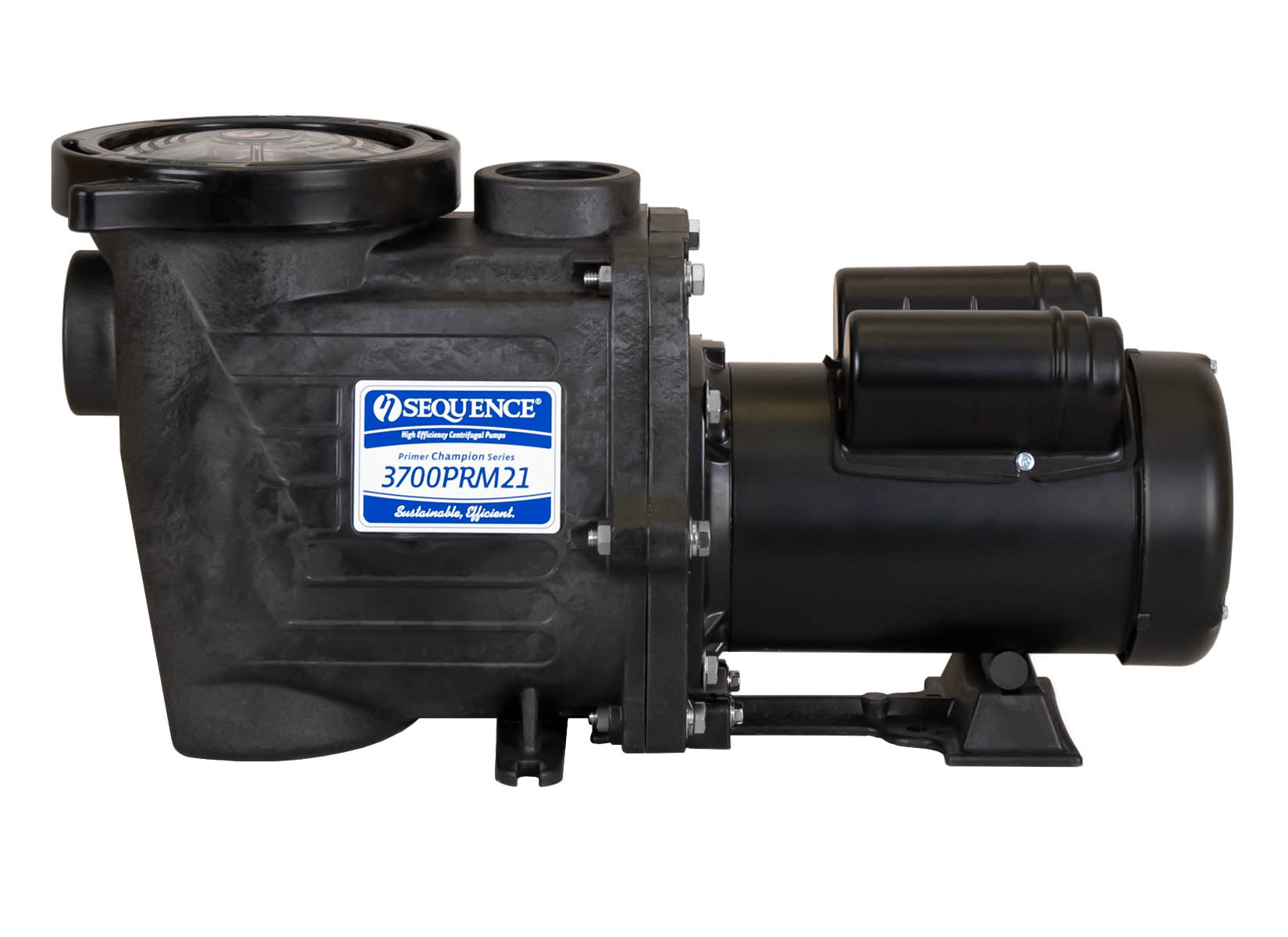 Sequence Primer Champion Pump with black Leeson Motor right side view