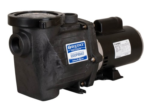 Sequence Primer Power Pump with black Marathon Motor right angle view