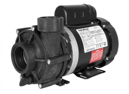 ValuFlo 750 Pump with black Marathon Motor right angle view