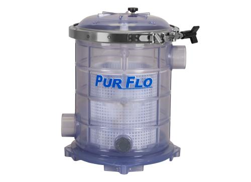 Sequence PurFlo Strainer Basket with clear body