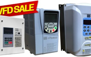 Yaskawa and WEG VFDs featured in sale