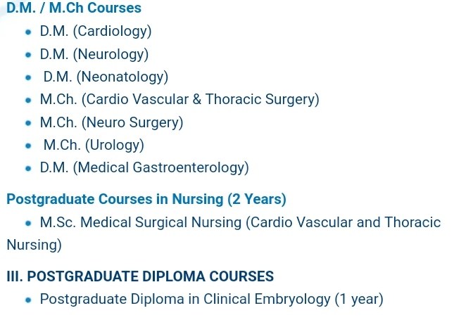 Chettinad Medical College Course Details