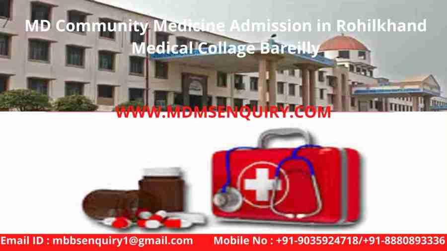 Md Community Medicine Admission in Rohilkhand Medical Collage Bareilly
