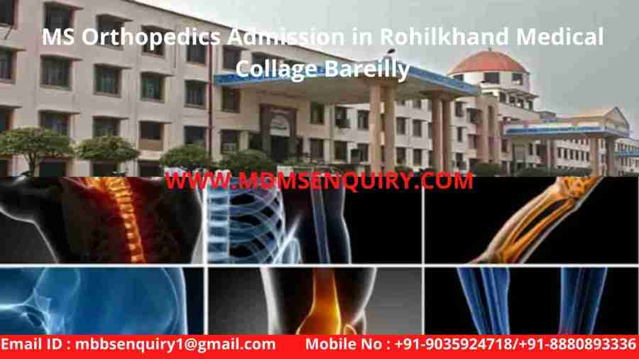 ms orthopedics admission in rohilkhand medical collage bareilly