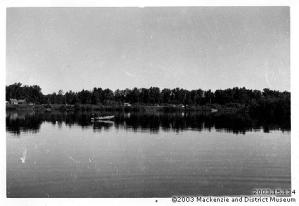 2003_15_134 Hudson's Bay Post at northern end of McLeod Lake 1930s