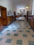 Hall at St. Kierans (notice width of walls via doorway to the left)