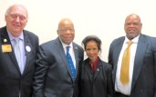 L-R NARFE National President Richard Thissen, Congressman Elijah Cummings, Dr. Sudha Haley, Dr. Gary Roundtree.