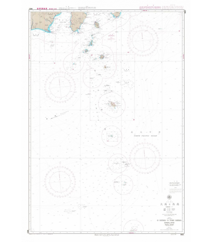 Japan Hydrographic Association (JHA) Nautical Chart W81