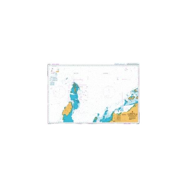 British Admiralty Australian Nautical Chart 742 Rosemary