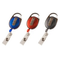 ID Badge Reel with Clasp & Clip