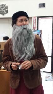 Leonardo da Vinci (okay, it's really Ms. Lisa) at our classroom Renaissance Faire in December