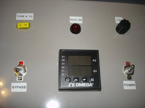 small resolution of the front panel of the kiln controller