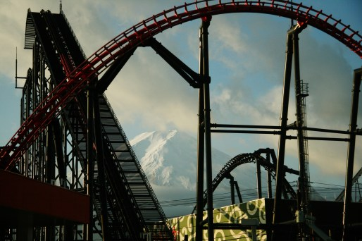 Rollercoaster and the mountain
