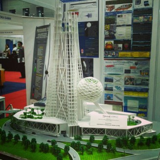 Model exhibited in KLCC