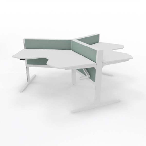 bàn văn phòng ba chỗ ngồi