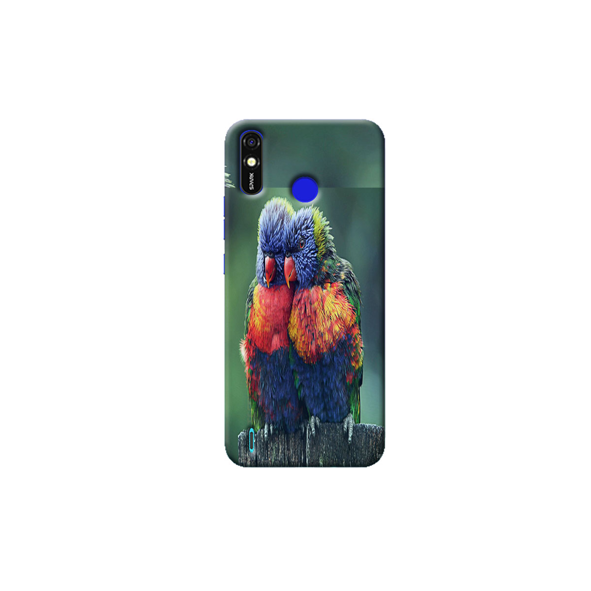 Tecno Spark go Plus Back Cover (parrot)
