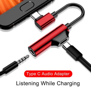 Type C to Audio and Charging connector