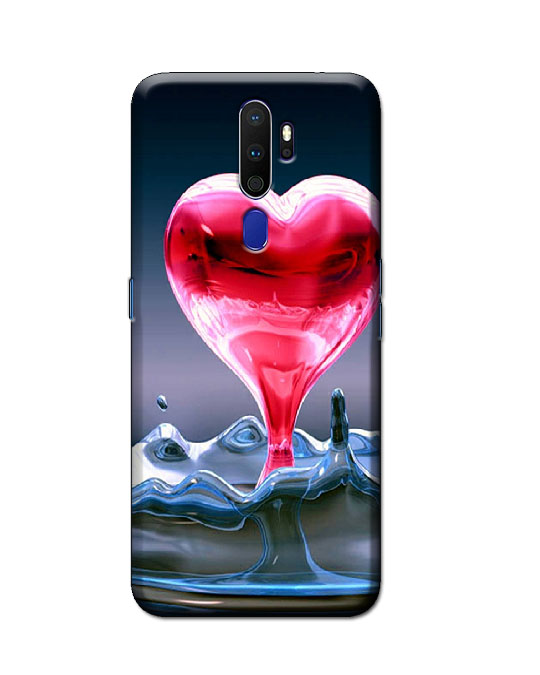 oppo a9 2020 back cover (pink heart)