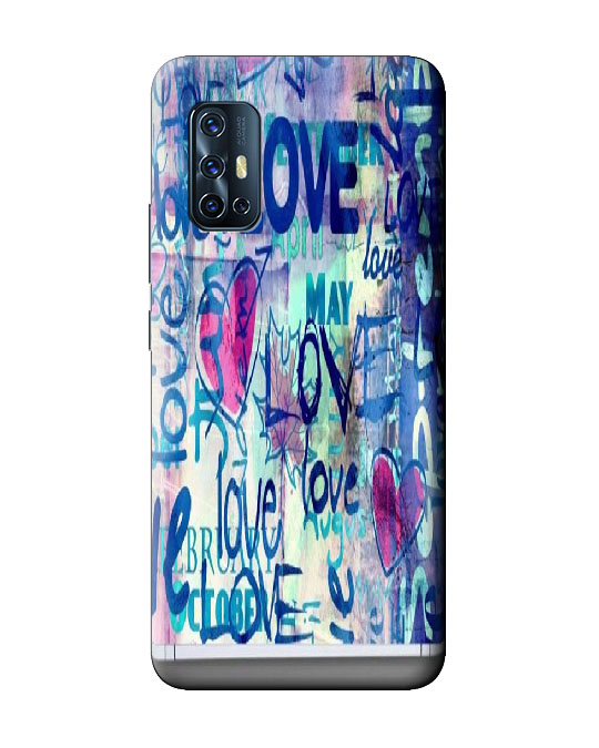 vivo V17 back cover (blue love)