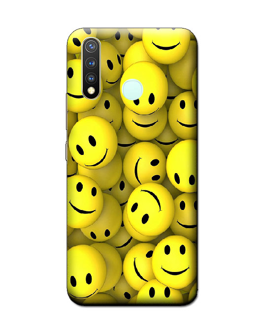 vivo y19 back cover (smiley)