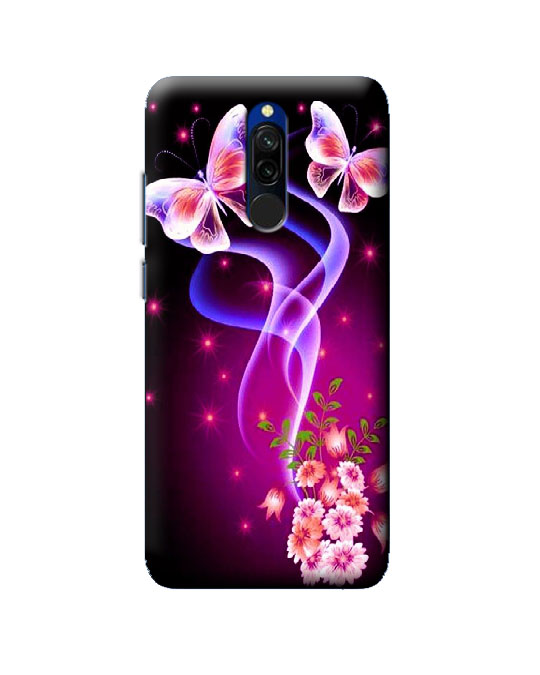 mi 8 back cover (butterfly)