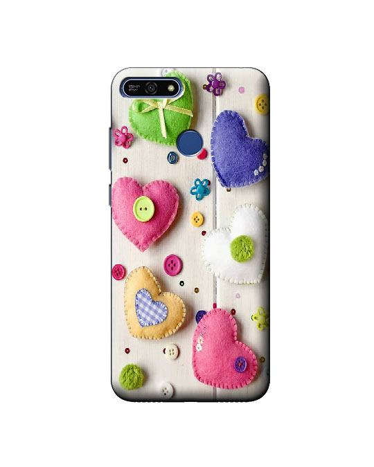 Honor 7A mobile back cover (hearts)