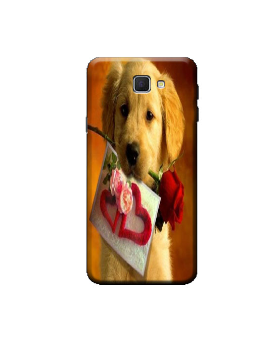 samsung j5 prime mobile back cover (dog)