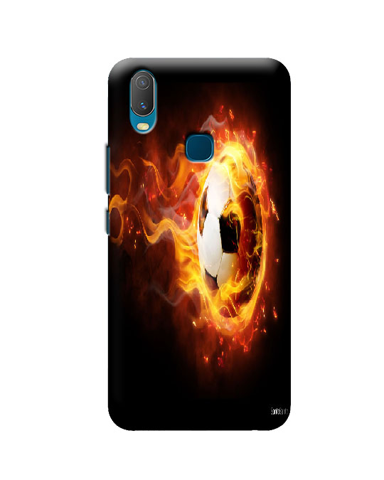 vivo y11 mobile cover (fire football)