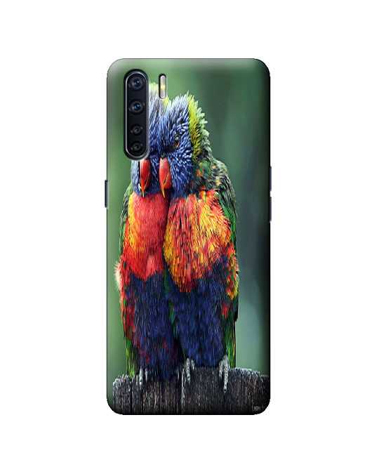 oppo F15 mobile back cover (parrot)