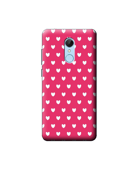 Redmi 5 Mobile Back cover (pink hearts)