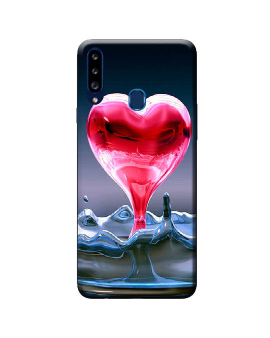 A20s samsung back cover (pink heart)
