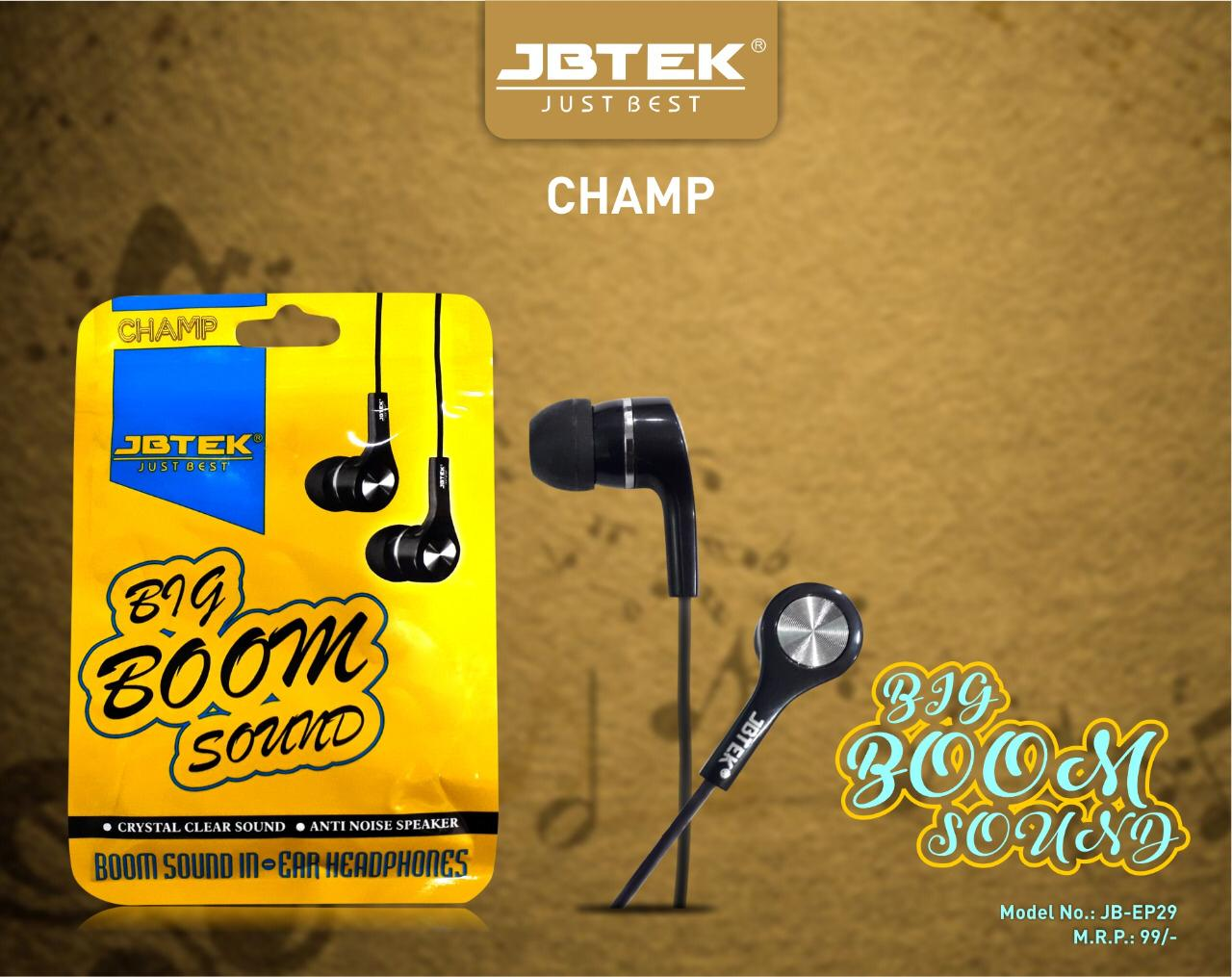 Jbtek Earphone Nokia Clip Boom Sound