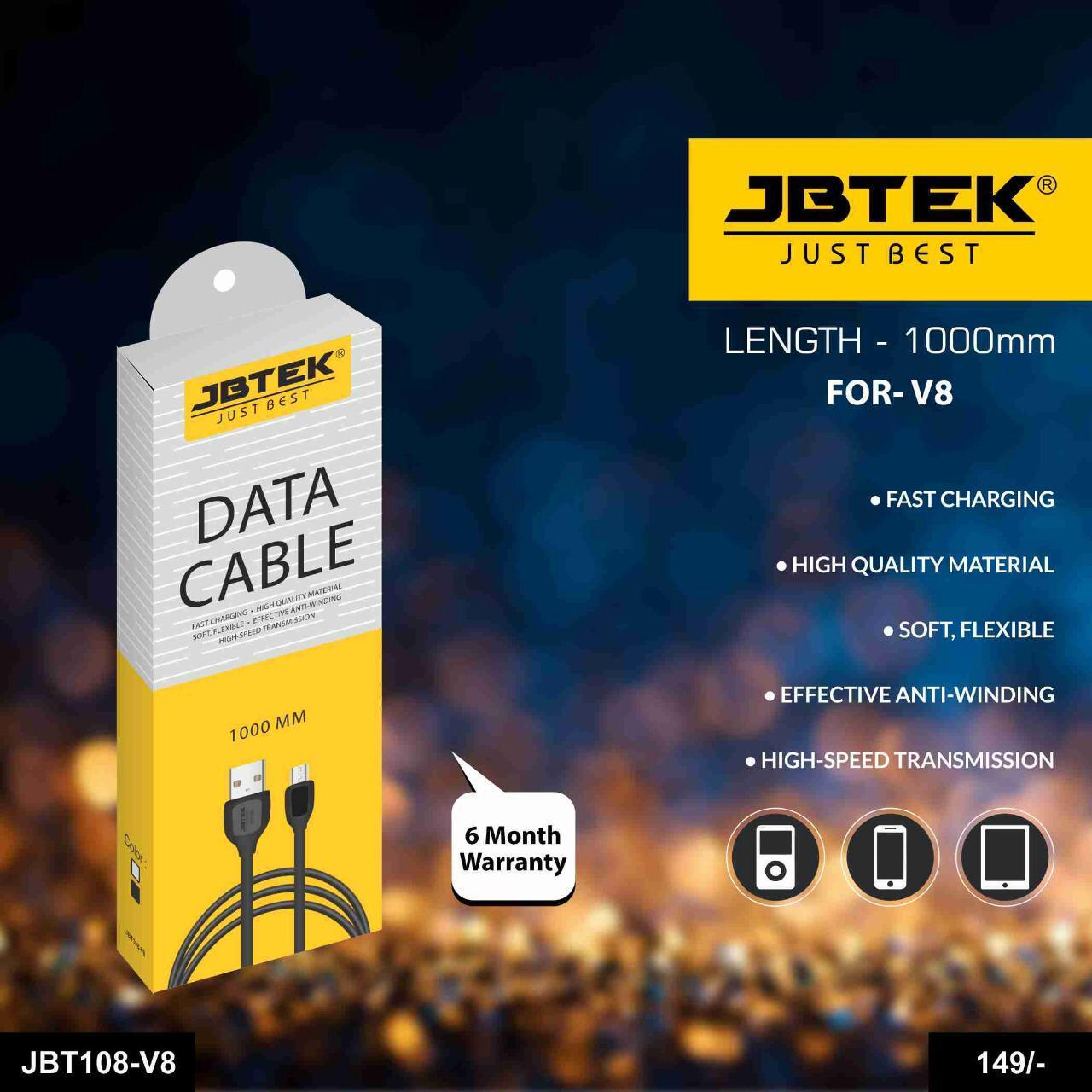 jbtek data cable with warranty JBT108 V8