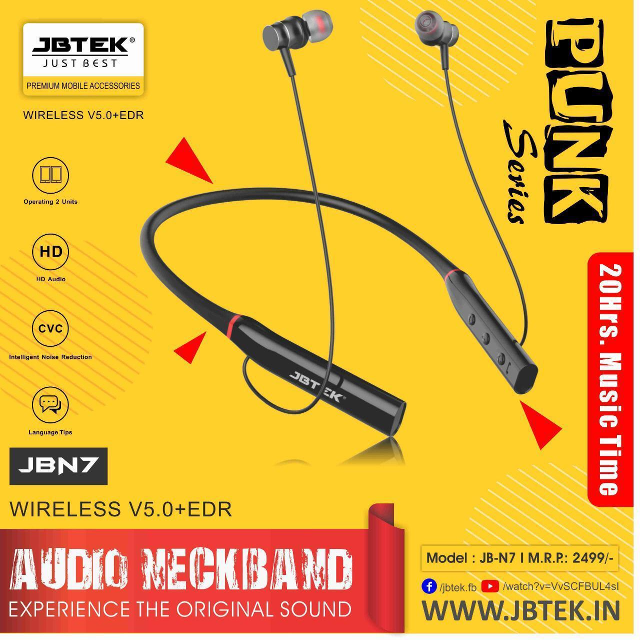 jbtek Audio Neckband Wireless JB-N7