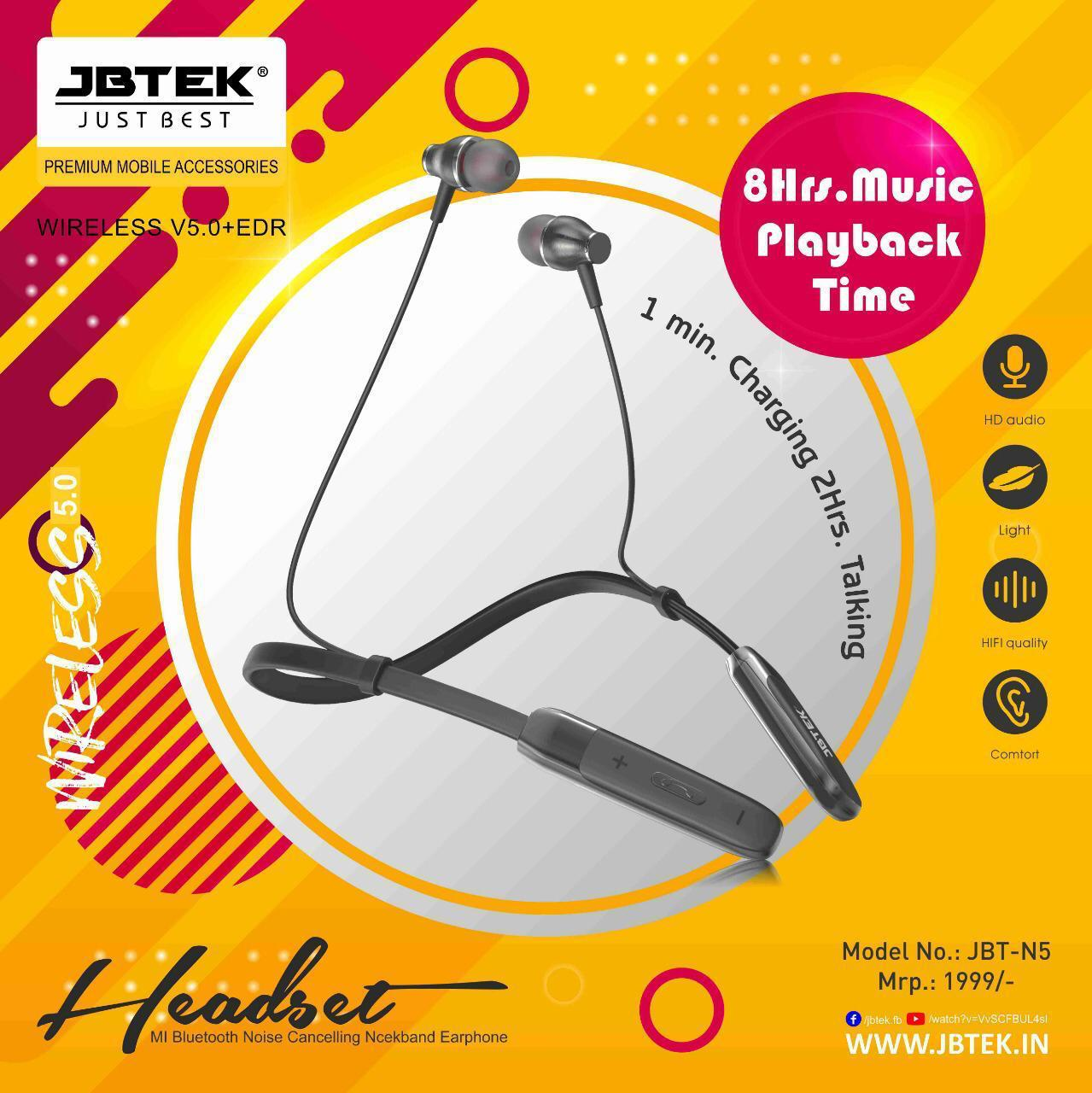 jbtek wireless Headset bluetooth JBT-N5