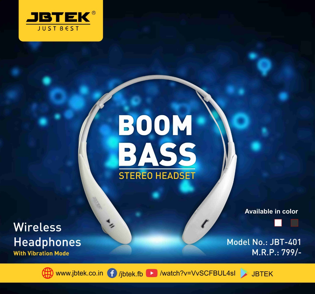 jbtek JBT-401 stereo Headset wireless