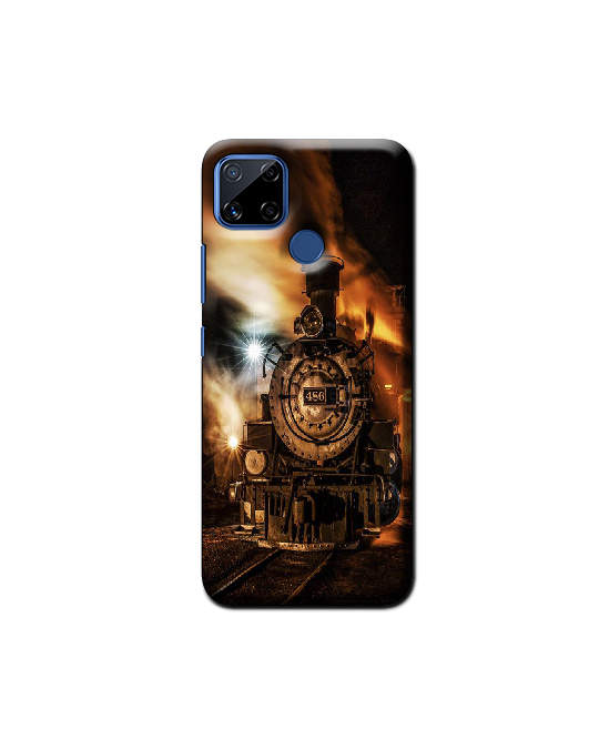 Realme C15 Mobile Back Cover (Train)