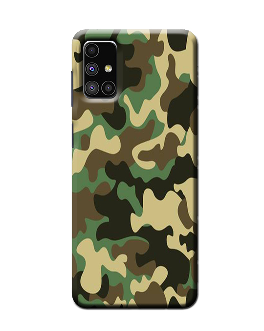 Samsung Mobile M51 Back cover ( Army)