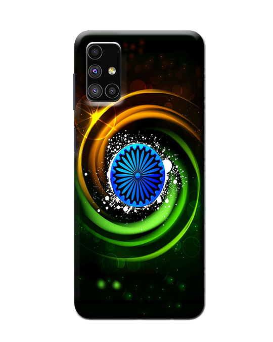 Samsung Mobile M51 Back cover (tiranga)