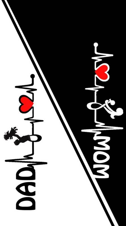 mom dad stickers For Mobile back