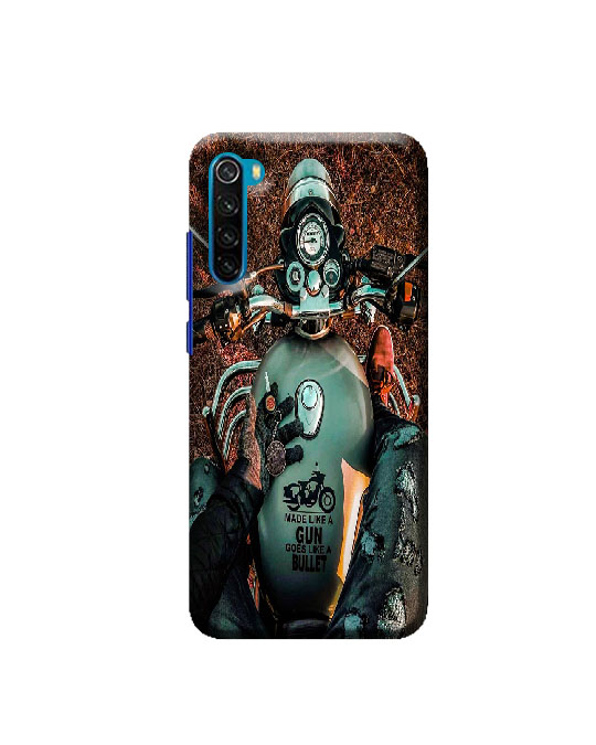 Redmi mi Note 8 mobile Back cover (Bullet Lover)
