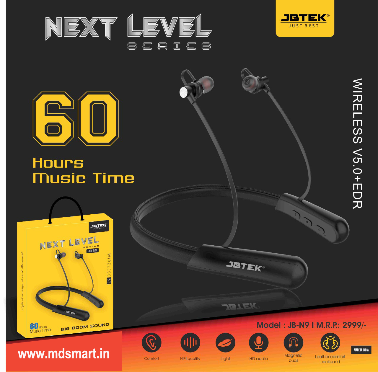 JBTEK JB-N9 Wireless Neckband