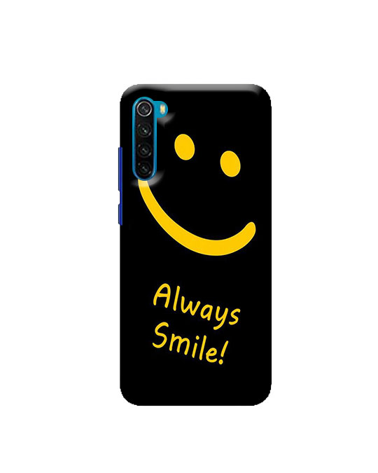 note 8 back cover Redmi (Always smile) Price 99 Rs Only