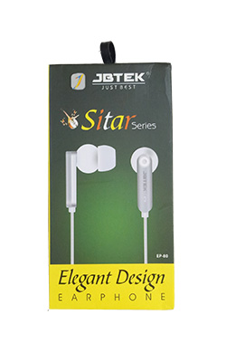 jbtek earphones wired EP-80 sitar series