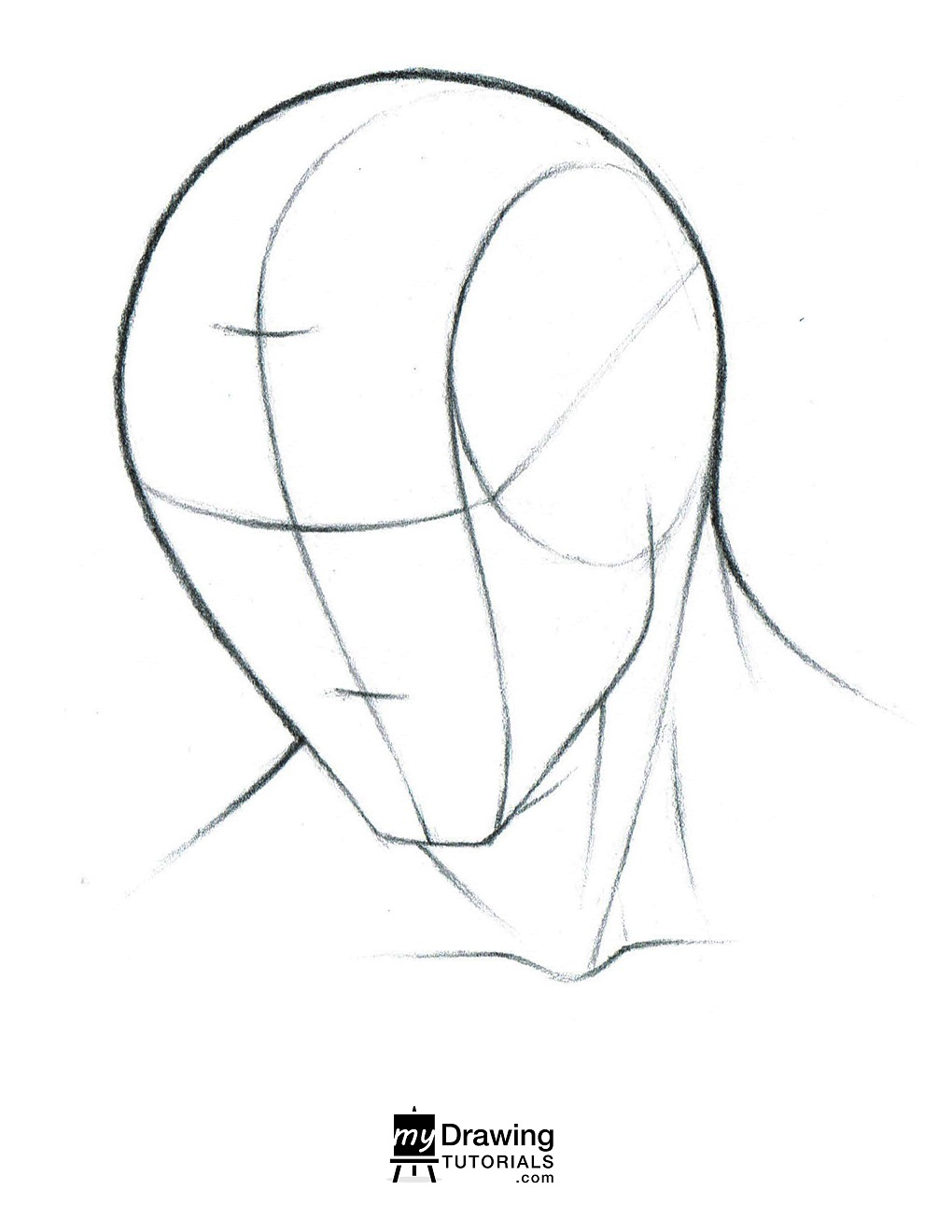 Head Looking Down Reference : looking, reference, Course, Assets, Portrait, Fundamentals, Simple, Drawing, Tutorials