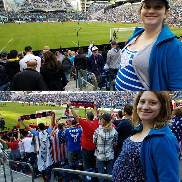 Got to start them early! 31 weeks at the Copa America