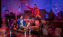 Billie Krishawn as Judy, Ryan Carlo as Peter, and Elan Zafir as The Guide in Jumanji at Adventure Theatre/MTC . Photo by Michael Horan.