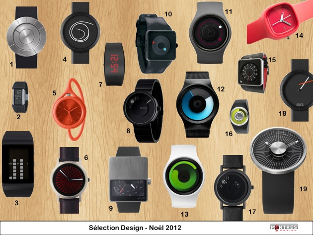 Selection Guide achat montres Design Noel 2012